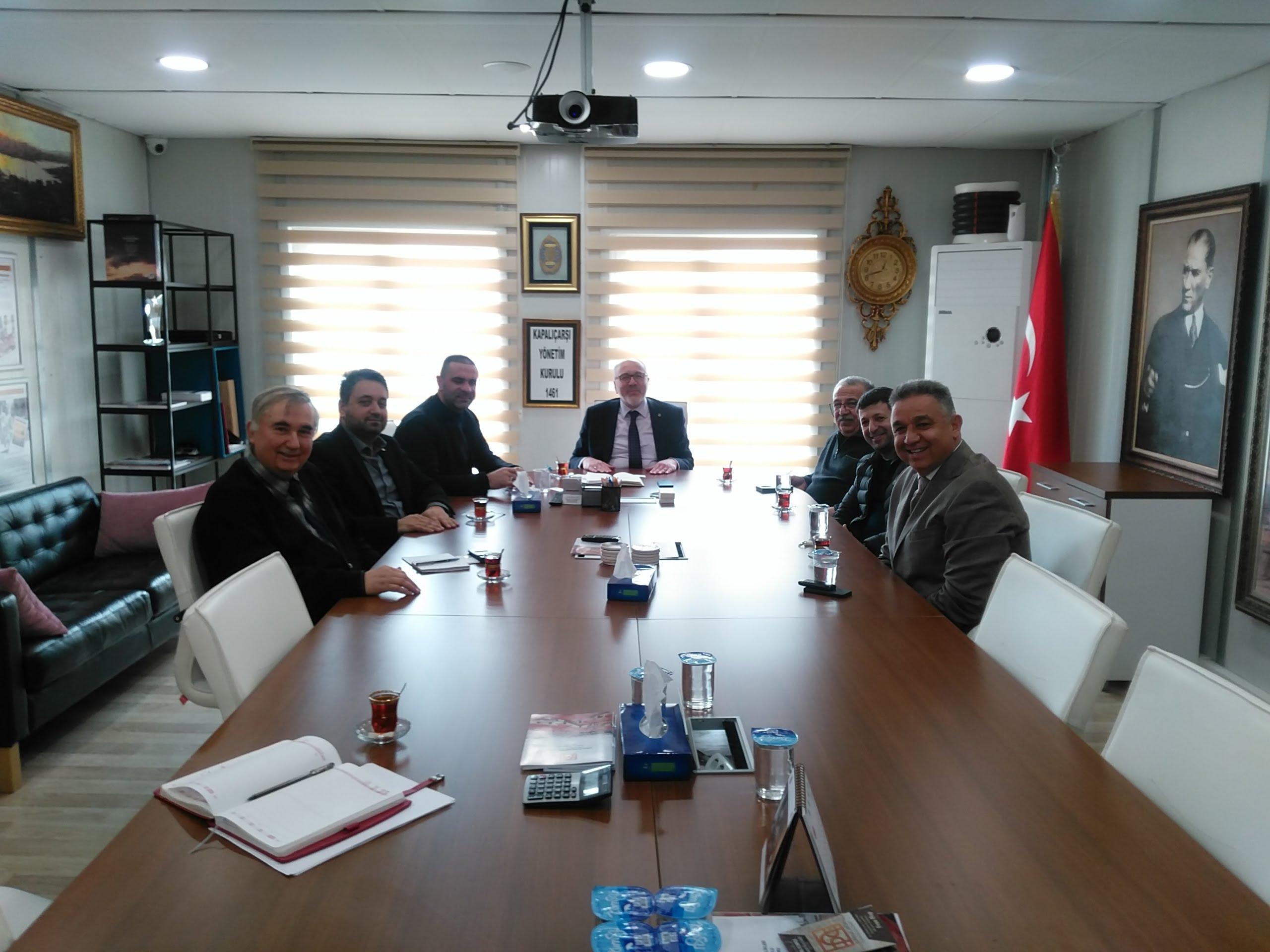 Kadıköy Tarihi Çarşı Derneği'nden Kapalı Çarşı Yönetim Kuruluna Ziyaret