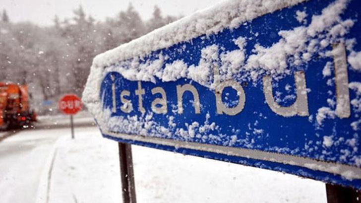 İstanbul'da kar yağışı yarın akşama kadar devam edecek