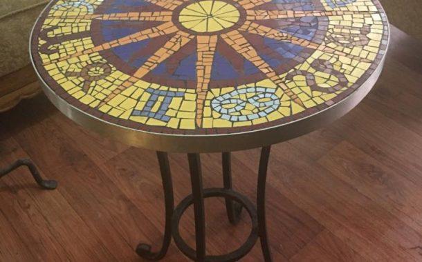 Mozaik Burç Haritalı Masa