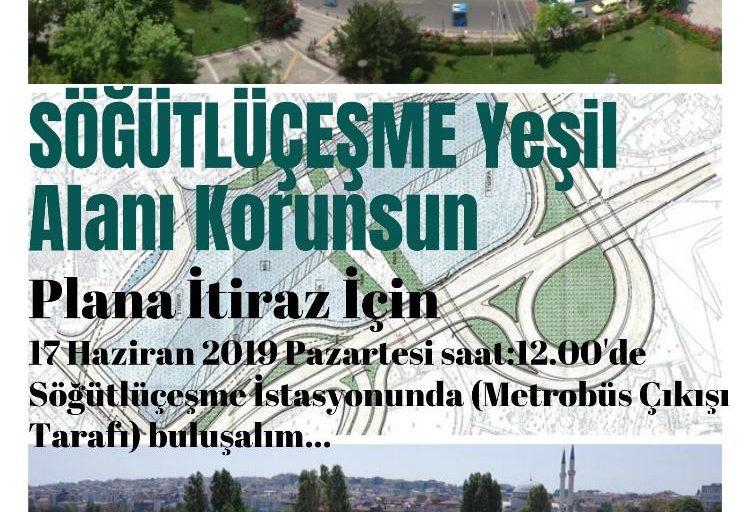 Söğütlüçeşme Yeşil Alanı Korunsun ,.  Plana itiraz için, Kadıköy Kent Konseyinden Basın Açıklaması yapılacak