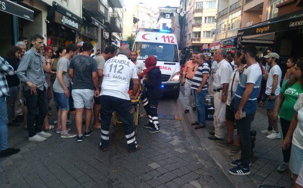 Moda Caddesinde kaza