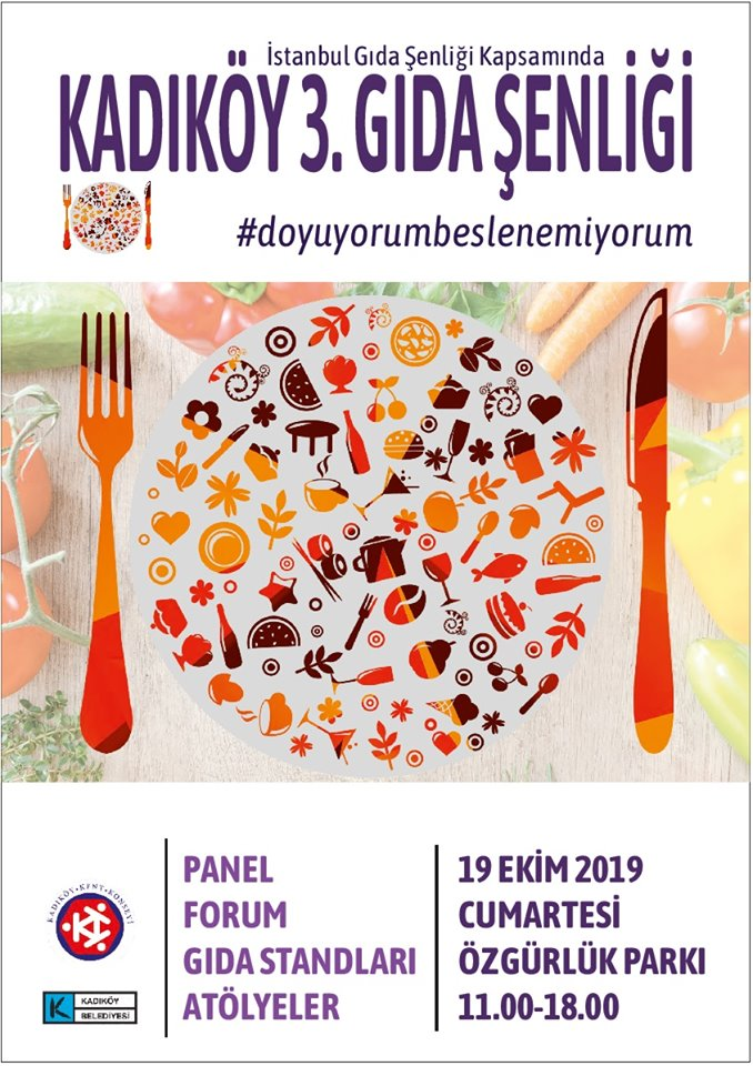 Kadıköy Kent Konseyi'nin düzenlediği Kadıköy 3. Gıda Şenliği