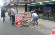 Kadıköy Tarihi Çarşı'da Kadıköy Belediyesi bakım onarım ekipleri çalışmalarını yoğunlaştırdı