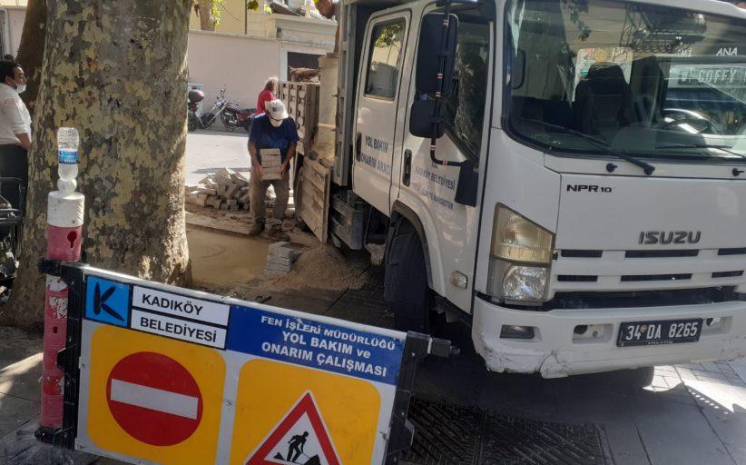 Kadıköy Belediyesi , Tarihi Çarşı içindeki yol onarım faaliyetlerini arttırdı
