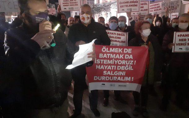 Kadıköy esnaflarından, PANDEMİ KISITLAMALARINA KARŞI DEVLET DESTEĞİ ÇAĞRISI