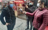 Kanal B , Kadıköy Tarihi Çarşı'da iş yerleri kapalı tutulan esnaflarla görüştü
